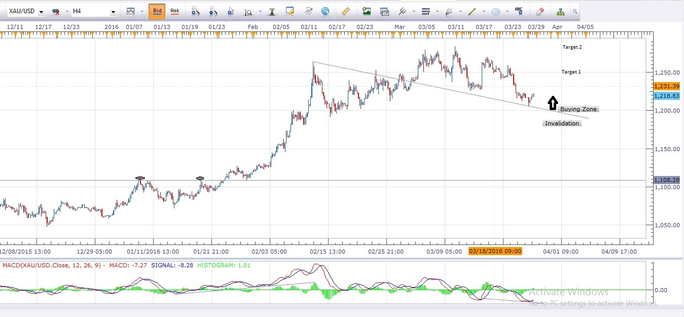 Gold daily forex chart